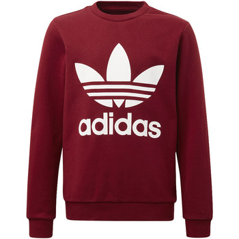 Vêtements Garçon Polaires adidas Originals Sweat-shirt Trefoil Crew Rouge / Blanc