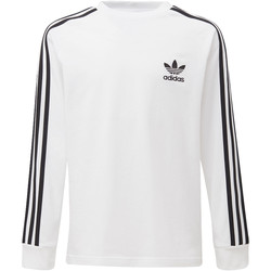 Vêtements Garçon Polaires adidas Originals T-shirt California Blanc / Noir