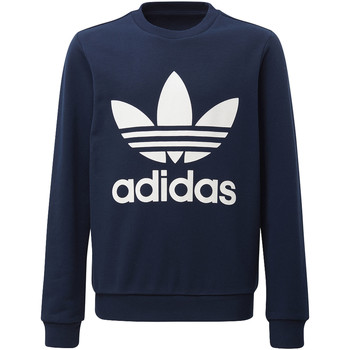 Vêtements Enfant Sweats adidas Originals Sweat-shirt Trefoil Crew Bleu Foncé / Blanc
