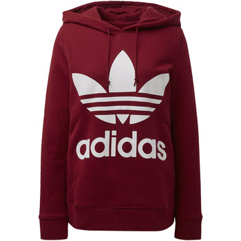 Vêtements Femme Sweats adidas Originals Sweat-shirt à capuche Trefoil Rouge