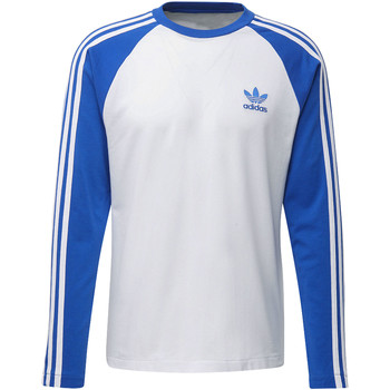 Vêtements Homme T-shirts manches longues adidas Originals T-shirt 3-Stripes Bleu