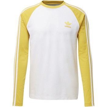 Vêtements Homme T-shirts manches longues adidas Originals T-shirt 3-Stripes Jaune