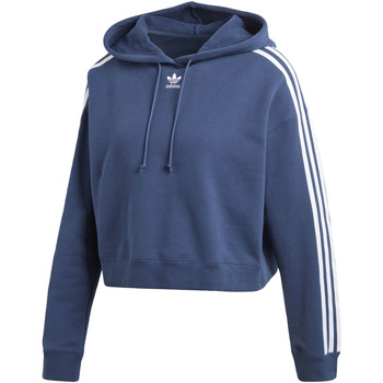 Vêtements Femme Sweats adidas Originals Sweat-shirt à capuche Cropped Bleu