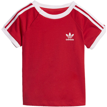 Vêtements Garçon T-shirts manches courtes adidas Originals T-shirt California Rouge / Blanc