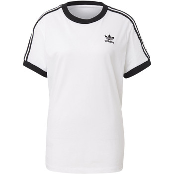 Vêtements Femme T-shirts manches courtes adidas Originals T-shirt 3-Stripes Blanc / Noir