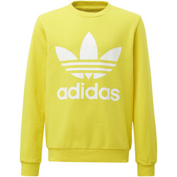 Vêtements Garçon Sweats adidas Originals Sweat-shirt Trefoil Crew Jaune / Blanc