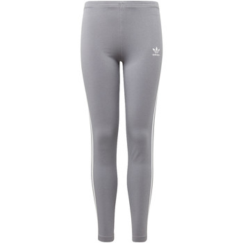 Vêtements Fille Leggings adidas Originals Legging 3-Stripes Gris / Blanc
