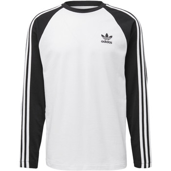 Vêtements Homme T-shirts manches longues adidas Originals T-shirt 3-Stripes Noir
