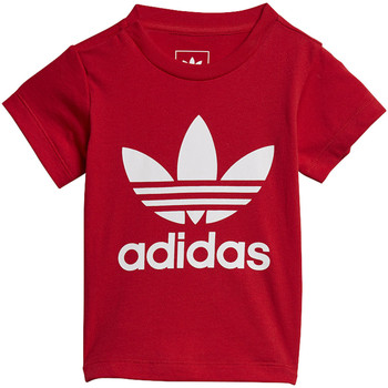 Vêtements Enfant T-shirts manches courtes adidas Originals T-shirt Trefoil Rouge / Blanc