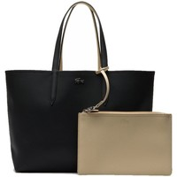 Sacs Femme Cabas / Sacs shopping Lacoste Sac porté épaule  Réversible ref_cem41539 A Noir