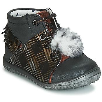 Chaussures Fille Baskets montantes Catimini PEPITA Noir / Cuivre