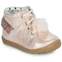 Chaussures Fille Baskets montantes Catimini PEPITA VTE ROSE POUDRE DPF/GLUCK