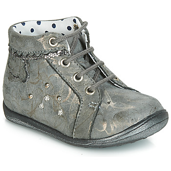 Chaussures Fille Baskets montantes Catimini FANETTE VTE GRIS-MARBRE OR DPF/GLUCK