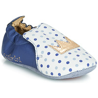 Chaussures Fille Chaussons Catimini CHIQUETTE Bleu / Blanc