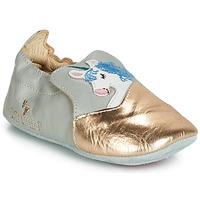 Chaussures Fille Ballerines / babies Catimini LICORNETTE VTE GRIS DPF/SOUPLE