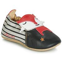 Chaussures Garçon Chaussons bébés Catimini RENARDOU VTE NOIR-GRIS-ROUGE DPF/SOUPLE