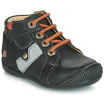 Chaussures Garçon Boots GBB REGIS Noir / Orange