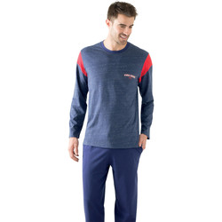 Vêtements Homme Pyjamas / Chemises de nuit Athena Pyjama homme long Summer marinerougemarine