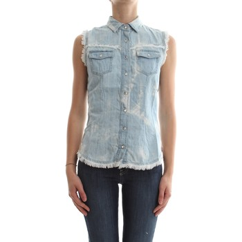 Vêtements Femme Tops / Blouses Met MITA/F D282 E85 6592 CHEMISE Femme DENIM LIGHT BLUE DENIM LIGHT BLUE