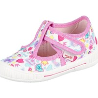 Chaussures Enfant Baskets basses Superfit Bully Weiss Kombi Textil Rose