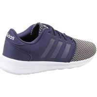 Chaussures Femme Baskets basses adidas Originals CF QT Racer W Blanc-Noir-Bleu