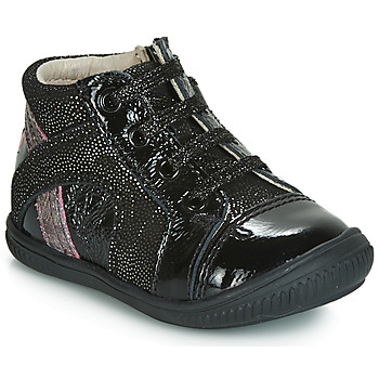 Chaussures Fille Baskets montantes GBB ROSETTA Noir / Argenté