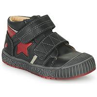 Chaussures Garçon Baskets montantes GBB RADIS VTE NOIR-BRIQUE DPF/LINUX