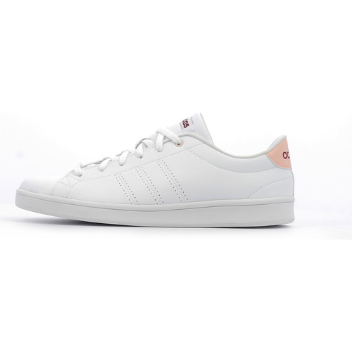 adidas Performance Advantage Clean QT W Footwear White / Mystery Ruby - Chaussures Baskets basses Femme