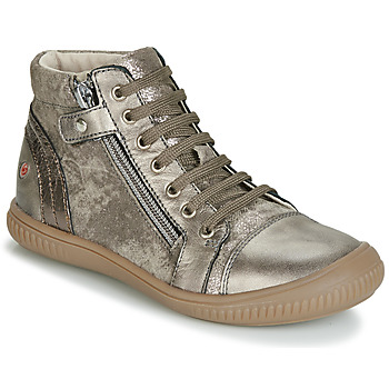 Chaussures Fille Baskets montantes GBB RACHIDA Taupe / Bronze