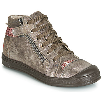 Chaussures Fille Baskets montantes GBB DESTINY CRT TAUPE ROSE DPF/EDIT