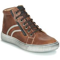 Chaussures Garçon Baskets montantes GBB NESTOR VTE MARRON DPF/LETTY