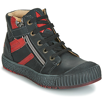 Chaussures Garçon Baskets montantes GBB RAMBOUTAN VTE NOIR-BRIQUE DPF/LINUX