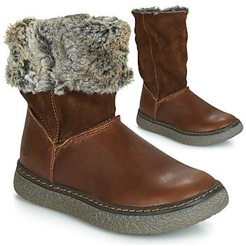 Chaussures Fille Bottes ville GBB DUBROVNIK VTC MARRON DPF/GLEN