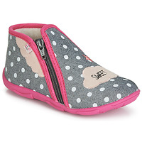 Chaussures Fille Chaussons GBB MILKY Gris / Rose