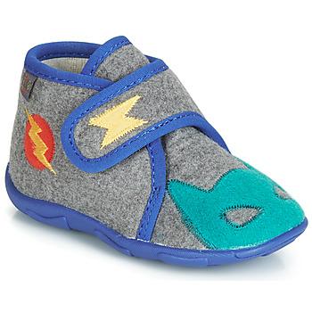 Chaussures Garçon Chaussons GBB SUPER DOUDOU TTX GRIS-BLEU DTX/AMIS
