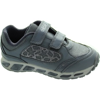 Chaussures Fille Baskets basses Geox J Shuttle G.A gris