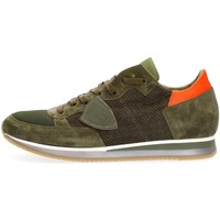 Chaussures Homme Baskets basses Philippe Model Paris TRLU PS41 TROPEZ PERFORE SNEAKERS Homme GREEN GREEN