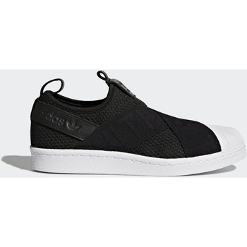 Chaussures Femme Baskets basses adidas Originals Chaussure Superstar Slip-on Noir / Noir / Blanc