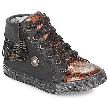 Chaussures Fille Baskets montantes Catimini LOULOU Noir / Cuivre