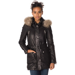 Vêtements Femme Vestes en cuir / synthétiques Daytona 73 NEW SOLENN SHEEP VENNE BLACK Noir