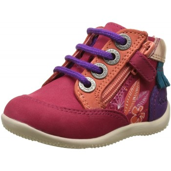 Chaussures Fille Boots Kickers Biflorid Rose