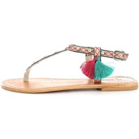 100 Percent Sandales %Percent PERSEFONE Tongs sandales Femme Gold/Green 100 Percent soldes
