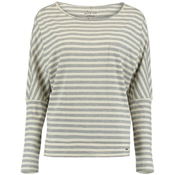 Vêtements Femme T-shirts manches longues O'neill T-Shirt  Lw Essentials Striped - White Aop / Grey blanc
