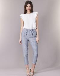 Vêtements Femme Pantalons 5 poches Betty London IKARALE Bleu / Blanc