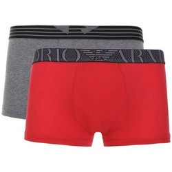 Vêtements Homme Boxers / Caleçons Armani jeans BOXER TRUNK  2 PACK ROUGE/MULTICOLOR