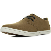 Chaussures Homme Baskets mode Fred Perry Byron Low Twil Two Tonel Dark Chocolate Almond marron