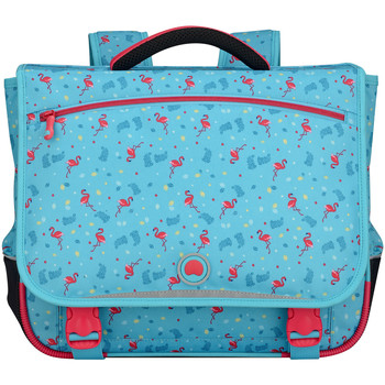 Sacs Enfant Cartables Delsey School 2017 Cartable 42cm 2S Turquoise Flamands Rose