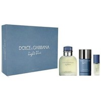 Beauté Homme Eau de toilette D&G Coffret Light Blue - Eau de toilette 125 ml + Déodorant + Minia parent