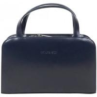 Sacs Femme Sacs porté main Arthur & Aston Petit sac à main en cuir rigide Arthur et Aston Bleu marine