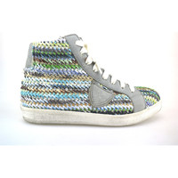 Chaussures Femme Baskets montantes Crown chaussures femme  sneakers multicolor textile cuir AG227 multicolor